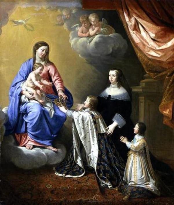 Louis-XIV-reçoit-la-couronne-de-France-et-le-sceptre-de-la-Vierge